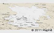 Classic Style Panoramic Map of Hamadan