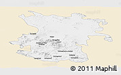 Classic Style Panoramic Map of Hamadan, single color outside