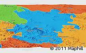 Political Panoramic Map of Hamadan