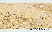 Satellite Panoramic Map of Hamadan