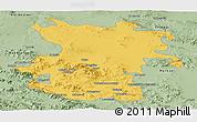 Savanna Style Panoramic Map of Hamadan