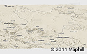 Shaded Relief Panoramic Map of Hamadan