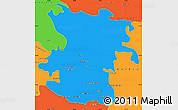 Political Simple Map of Hamadan