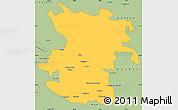 Savanna Style Simple Map of Hamadan