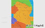 Political 3D Map of Horasan