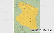 Savanna Style 3D Map of Horasan