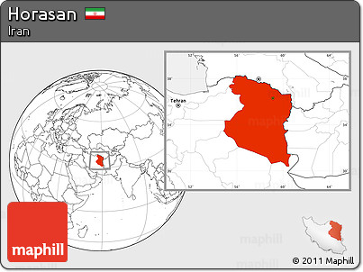 Blank Location Map of Horasan