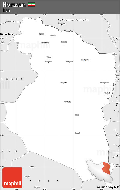 Silver Style Simple Map of Horasan