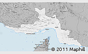 Gray 3D Map of Hormozgan