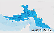 Political 3D Map of Hormozgan, single color outside