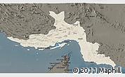 Shaded Relief 3D Map of Hormozgan, darken
