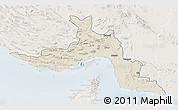 Shaded Relief 3D Map of Hormozgan, lighten