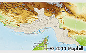 Shaded Relief 3D Map of Hormozgan, physical outside