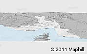 Gray Panoramic Map of Hormozgan