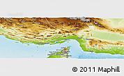 Physical Panoramic Map of Hormozgan
