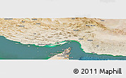 Satellite Panoramic Map of Hormozgan