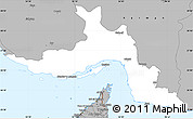 Gray Simple Map of Hormozgan