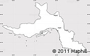 Silver Style Simple Map of Hormozgan, cropped outside