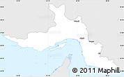 Silver Style Simple Map of Hormozgan, single color outside