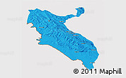 Political 3D Map of Ilam, cropped outside