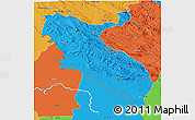 Political 3D Map of Ilam