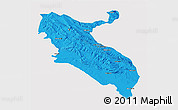 Political 3D Map of Ilam, single color outside