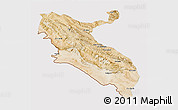 Satellite 3D Map of Ilam, cropped outside