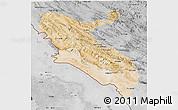 Satellite 3D Map of Ilam, desaturated
