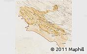 Satellite 3D Map of Ilam, lighten