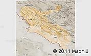 Satellite 3D Map of Ilam, semi-desaturated