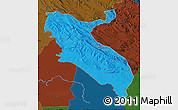 Political Map of Ilam, darken