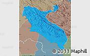 Political Map of Ilam, semi-desaturated