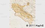 Satellite Map of Ilam, lighten