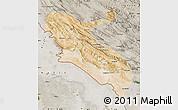 Satellite Map of Ilam, semi-desaturated