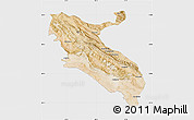 Satellite Map of Ilam, single color outside