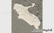 Shaded Relief Map of Ilam, darken