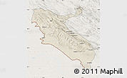 Shaded Relief Map of Ilam, lighten