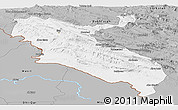 Gray Panoramic Map of Ilam