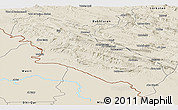 Shaded Relief Panoramic Map of Ilam