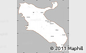 Gray Simple Map of Ilam, cropped outside