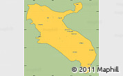 Savanna Style Simple Map of Ilam, cropped outside