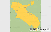 Savanna Style Simple Map of Ilam, single color outside
