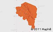 Political Map of Kerman, cropped outside