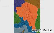 Political Map of Kerman, darken