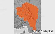 Political Map of Kerman, desaturated