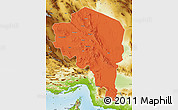 Political Map of Kerman, physical outside