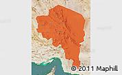 Political Map of Kerman, satellite outside