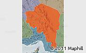 Political Map of Kerman, semi-desaturated