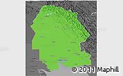 Political 3D Map of Khuzestan, darken, desaturated