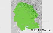 Political 3D Map of Khuzestan, lighten, desaturated